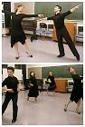 身体の回転とスイング感の練習をしてる写真